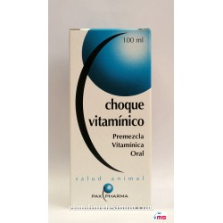 "Choque Vitamínico ""Pax Pharma"" 20 ml."