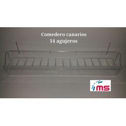 Comedero Canarios 14 agujeros C/alambre Art 100