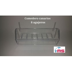 Comedero Canarios 8 agujeros C/alambre Art 025/G