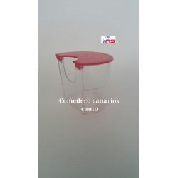 Comedero Canarios Canto Redondo tapa Roja